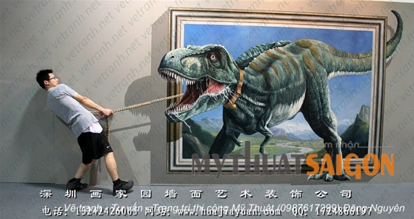 Nghệ thuật vẽ tranh tường 3D